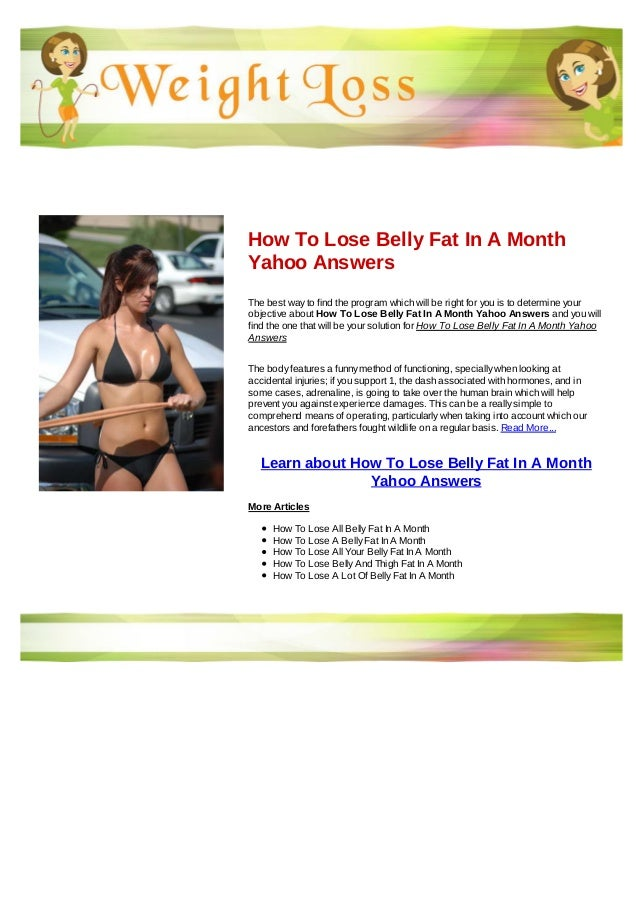 belly fat lose yahoo